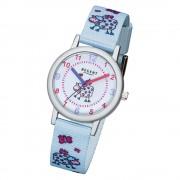 Regent Kinder-Armbanduhr 32-F-1133 Textil, Stoff-Armband hellblau URF1133