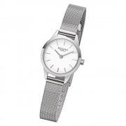 Regent Damen Armbanduhr Analog F-1165 Quarz-Uhr Metall silber URF1165