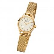 Regent Damen Armbanduhr Analog F-1166 Quarz-Uhr Metall gold URF1166