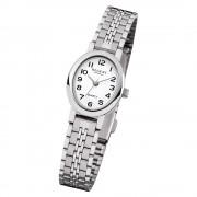 Regent Damen Armbanduhr Analog F-1169 Quarz-Uhr Metall silber URF1169