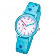 Regent Kinder Armbanduhr Analog F-1208 Quarz-Uhr Textil schwarz URF1208