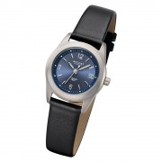 Regent Damen Armbanduhr Analog F-1214 Quarz-Uhr Titan schwarz URF1214