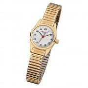 Regent Damen-Armbanduhr F-271 Quarz-Uhr Stahl-Armband gold URF271