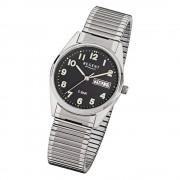 Regent Herren-Armbanduhr F-291 Quarz-Uhr Stahl-Armband silber URF291