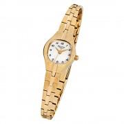 Regent Damen-Armbanduhr F-308 Quarz-Uhr Stahl-Armband gold URF308