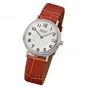 Regent Damen-Armbanduhr F-329 Quarz-Uhr Leder-Armband braun URF329