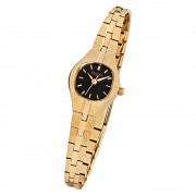 Regent Damen-Armbanduhr F-378 Quarz-Uhr Stahl-Armband gold URF378