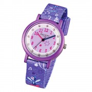 Regent Kinderuhr Feenapplikation Glitzersteine Textil lila Mädchen Uhr URF486