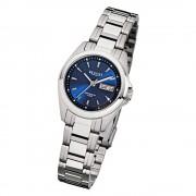 Regent Damen-Armbanduhr F-518 Quarz-Uhr Stahl-Armband silber URF518