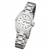 Regent Damen-Armbanduhr F-519 Quarz-Uhr Stahl-Armband silber URF519
