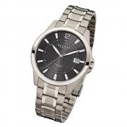 Regent Herren-Armbanduhr Saphirglas Quarz Titan silber grau URF555