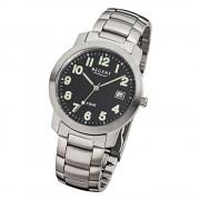 Regent Herren-Armbanduhr F-643 Quarz-Uhr Stahl-Armband silber URF643