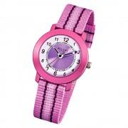 Regent Armbanduhr Kinder Quarz Aluminium Textil rosa Mädchen Uhr URF725