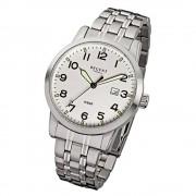 Regent Herren-Armbanduhr F-771 Quarz-Uhr Stahl-Armband silber URF771