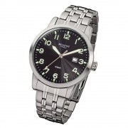 Regent Herren-Armbanduhr F-772 Quarz-Uhr Stahl-Armband silber URF772