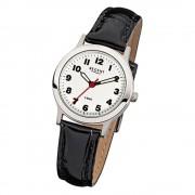 Regent Damen-Armbanduhr F-826 Quarz-Uhr Leder-Armband schwarz URF826