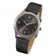 Regent Herren-Armbanduhr F-843 Titan-Uhr Leder-Armband schwarz URF843