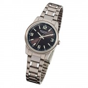 Regent Damen-Armbanduhr Mineralglas Quarz Titan silber grau URF858