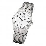 Regent Herren-Armbanduhr F-875 Quarz-Uhr Stahl-Armband silber URF875