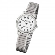 Regent Damen, Herren-Armbanduhr F-884 Quarz-Uhr Stahl-Armband silber URF884
