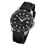 Regent Herren-Armbanduhr Mineralglas Quarz Kunststoff schwarz URF911