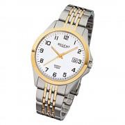 Regent Herren-Armbanduhr F-917 Quarz-Uhr Stahl-Armband silber gold URF917