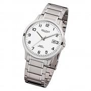 Regent Herren-Armbanduhr F-963 Quarz-Uhr Stahl-Armband silber URF963