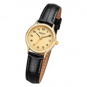 Regent Damen-Armbanduhr F-970 Quarz-Uhr Mini Leder-Armband schwarz URF970