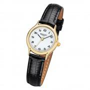 Regent Damen-Armbanduhr F-971 Quarz-Uhr Mini Leder-Armband schwarz URF971