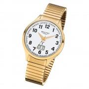 Regent Herren-Armbanduhr 32-FR-209 Funkuhr Edelstahl-Armband gold URFR209