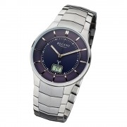 Regent Herren-Armbanduhr FR-214 Funkuhr Stahl-Armband silber grau URFR214