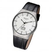 Regent Herren-Armbanduhr 32-FR-217 Funkuhr Leder-Armband schwarz URFR217