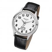 Regent Herren-Armbanduhr 32-FR-228 Funkuhr Leder-Armband schwarz URFR228