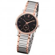 Regent Damen-Armbanduhr Quarz-Uhr Edelstahl-Armband silber rosegold Uhr URGM1410