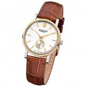 Regent Damen-Armbanduhr Quarz-Uhr Leder-Armband braun Uhr URGM1450