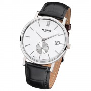 Regent Herren-Armbanduhr Quarz-Uhr Leder-Armband schwarz Uhr URGM1451