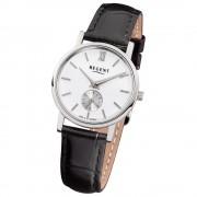 Regent Damen-Armbanduhr Quarz-Uhr Leder-Armband schwarz Uhr URGM1452