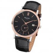 Regent Herren-Armbanduhr Quarz-Uhr Leder-Armband schwarz Uhr URGM1453