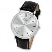 THINK positive Damen Herren Armbanduhr Fashion Analog Leder schwarz UTP7055S
