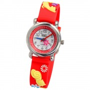 Tee-Wee Kinderuhr rot Katzen 3D Kautschukband Kinder Uhren UW243R