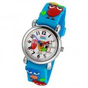 Tee-Wee Kinderuhr hellblau Eulen 3D Kautschukband Kinder Uhren UW308H