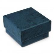 SD Schmuckschachtel blau Geschenk-Verpackung 40x40x25mm Etui VE3042B