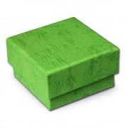 SD Schmuckschachtel grün Geschenk-Verpackung 40x40x25mm Etui VE3042G