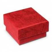 SD Schmuckschachtel rot Geschenk-Verpackung 40x40x25mm Etui VE3042R