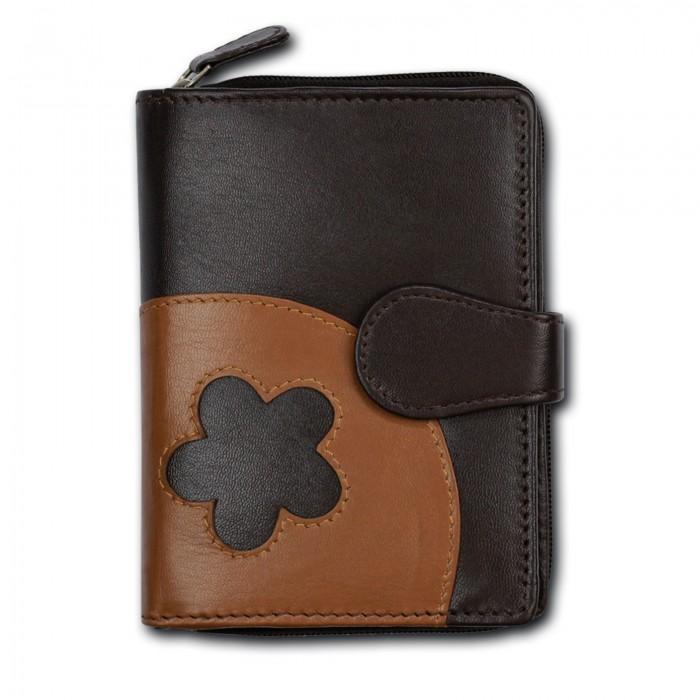 Portemonnaie hoch braun DrachenLeder Geldbörse Brieftasche Leder OPS102N