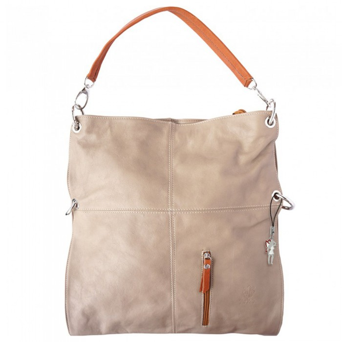 c0a44cda21c3d6 Hobo Bag Umhängetasche Leder braun Damen Schultertasche DrachenLeder OTF102C