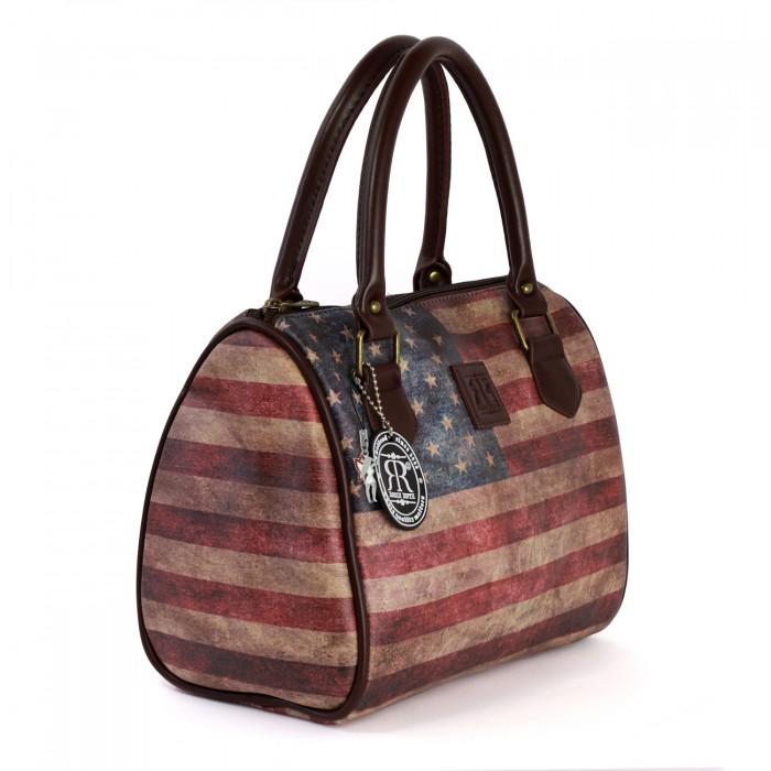 Robin Ruth Handtasche Kunstleder mehrfarbig Elegante Vintage USA Tasche OTG103F
