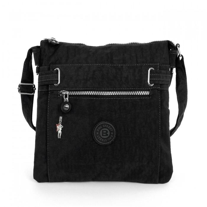 5f3bd8035e477 Damen Umhängetasche schwarz Nylon Schultertasche Bag Street Handtasche  OTJ207S