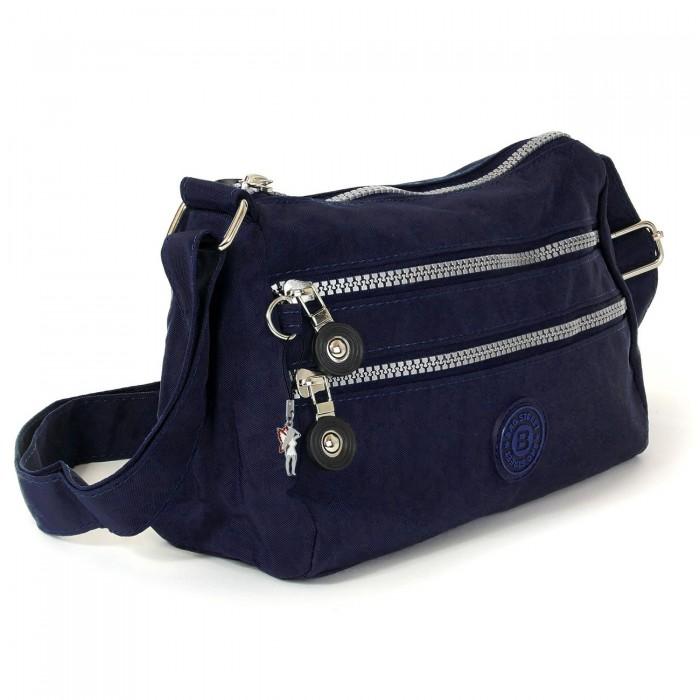Bag Street Umhängetasche Nylon navy blau Sportliche Damen Handtasche OTJ229B