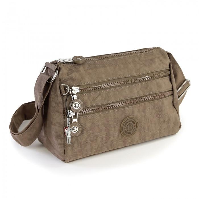 65be19d4f3c04 Umhängetasche Nylon stone braun Sportliche Damen Handtasche Bag Street  OTJ229L